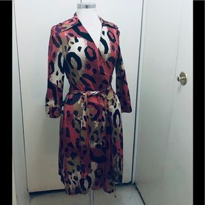 DVF leopard wrap mini dress